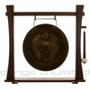 """20"""" Vietnamese Dragon Gong on Spirit Guide Wood Stand"""