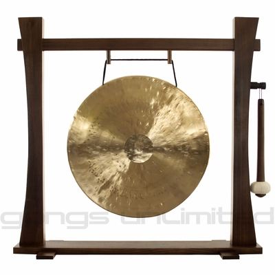 "20"" White Gong on Spirit Guide Gong Stand - FREE SHIPPING"
