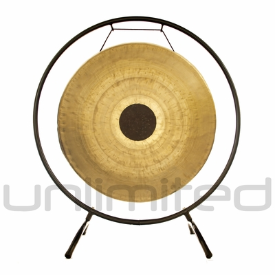 """22"""" Chocolate Drop Gong on the Holding Space Gong Stand  - FREE SHIPPING"""