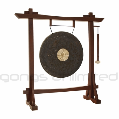 """22"""" Dark Star Gong on Modern Antique Gong Stand - FREE SHIPPING"""