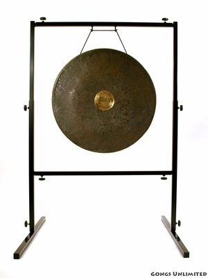 "22"" Dark Star Gong on Rambo Rimbaud Gong Stand - FREE SHIPPING - SOLD OUT"