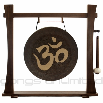"18"" Om Gong on Spirit Guide Gong Stand"