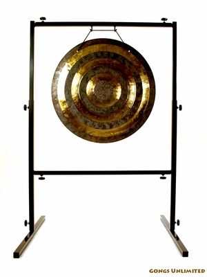 """22"""" Solar Flare Gong on Rambo Rimbaud Gong Stand - FREE SHIPPING"""
