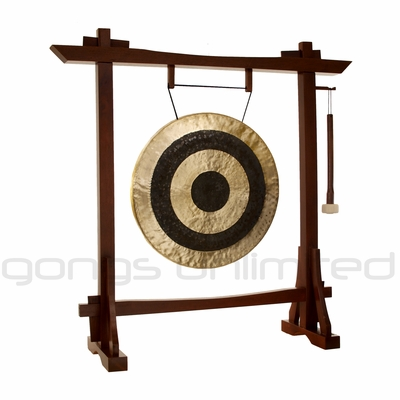 """22"""" Subatomic Gong on Modern Antique Gong Stand - FREE SHIPPING"""