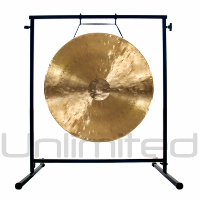 """20"""" White Gong on the Fruity Buddha Gong Stand - FREE SHIPPING"""