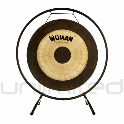 "22"" Wuhan Chau Gong on the Holding Space Gong Stand - FREE SHIPPING"