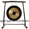 "24"" Chau Gong on the Vietnamese Bamboo Gong Stand"
