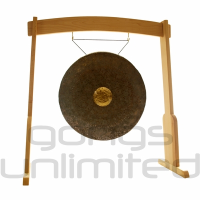 "26"" Dark Star Gong on the Meinl Gong/Tam Tam Wood Stand (TMWGS-M) - SOLD OUT"