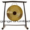 "26"" Chocolate Drop Gong on the Vietnamese Bamboo Gong Stand"