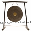 "26"" Dark Star Gong on the Vietnamese Bamboo Gong Stand"