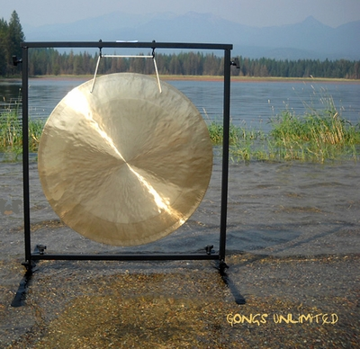 "26"" Brisk Wind Gong on the Fruity Buddha Gong Stand  - FREE SHIPPING"