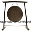 """26"""" Mother Tesla Gong on the Vietnamese Bamboo Gong Stand"""