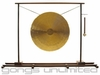 "26"" White Gong on MicroMaglev Gong Stand"