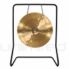 """26"""" White Gong on UFIP Molto Bella Gong Stand"""