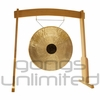 "28"" Chocolate Drop Gong on the Meinl Gong/Tam Tam Wood Stand (TMWGS-M) - SOLD OUT"