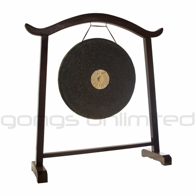 "28"" Dark Star Gong on the Deeper Meaning Gong Stand - SOLD OUT"