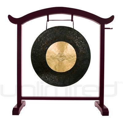 "26"" Dark Star Gong on the Deeper Meaning Gong Stand  - FREE SHIPPING - SOLD OUT"