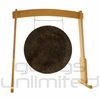 "28"" Mother Tesla Gong on the Meinl Gong/Tam Tam Wood Stand (TMWGS-M)"