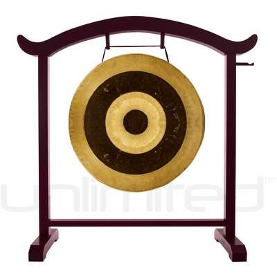"26"" Subatomic Gong on the Deeper Meaning Gong Stand  - FREE SHIPPING"