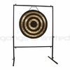 """32"""" Solar Flare Gong on Rambo Rimbaud Gong Stand"""