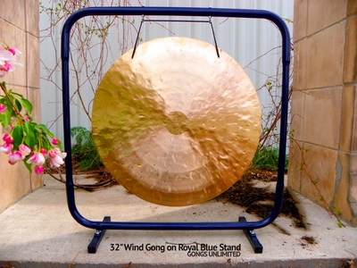 """32"""" Wind Gong on Royal Blue Gong Stand - FREE SHIPPING  - SOLD OUT"""