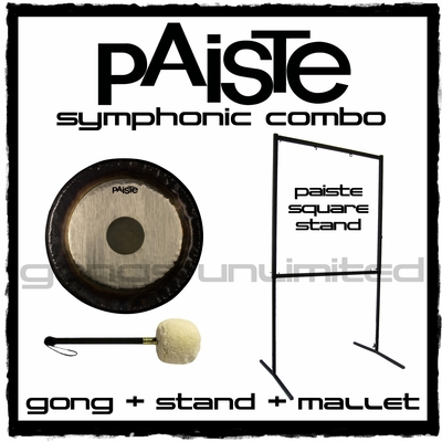 "34"" Paiste Symphonic Gong on Square Stand with M6 Mallet"
