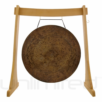 """40"""" Atlantis Gong on the Unlimited Revelation Gong Stand"""