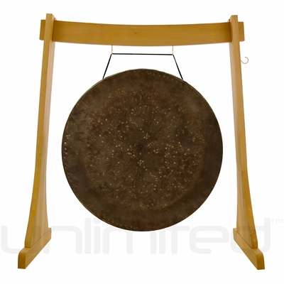 """40"""" Mother Tesla Gong on the Unlimited Revelation Gong Stand"""