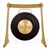 "36"" Dark Star Gong on the Unlimited Revelation Gong Stand"
