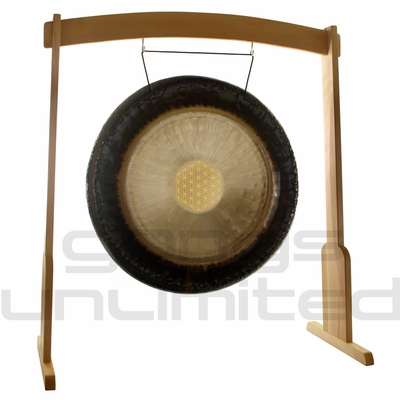 """36"""" Meinl Sonic Energy Flower of Life Gong on Meinl Wood Stand (G36-FOL/TMWGS-L) - SOLD OUT"""