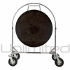 "36"" Mother Tesla Gong on Chrome Corps Design Adjustable Marching Band Gong Stand"