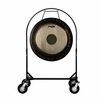 "36"" Paiste Symphonic Gong on Corps Design Adjustable Marching Band Gong Stand"