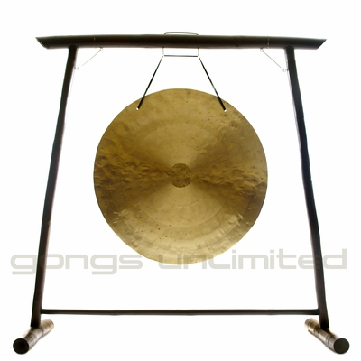 """48"""" Wind Gong on the Vietnamese Bamboo Gong Stand - FREE SHIPPING"""