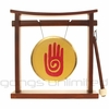 "7"" Healing Hand Reiki Gong on Pretty Chill Gong Stand - FREE SHIP"