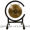 """7"""" Masonic Gong on High C Gong Stand (F.&A.M. and A.F.&A.M. Freemason Gong)"""