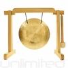 "7"" Wind Gong on the Tiny Atlas Stand - Natural - FREE SHIPPING"