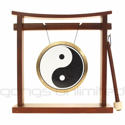 "7"" Yin Yang Ma Gong on Pretty Chill Wood Stand"