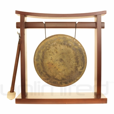 "8"" Atlantis Gong on the Pretty Chill Gong Stand - FREE SHIPPING"