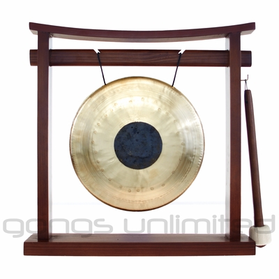 """8"""" Chocolate Drop Gong on the Pretty Chill Gong Stand - FREE SHIPPING"""