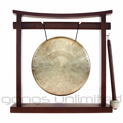 "8"" Ma Gong on the Pretty Chill Gong Stand - FREE SHIPPING"