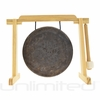 "8"" Mother Tesla Gong on Tiny Atlas Stand - Natural - FREE SHIPPING"