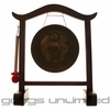 "9"" Vietnamese Dragon Gong on Wood Gong Stand"