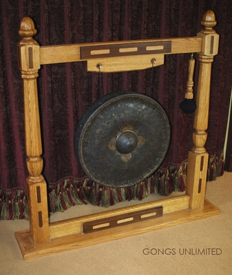 """22"""" Antique Thai Gong on American Garuda Gong Stand 