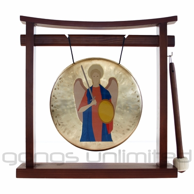 ArchAngel Michael Prayer Gong on the Pretty Chill Gong Stand