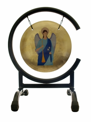 ArchAngel Gabriel Prayer Gong on the High C Gong Stand