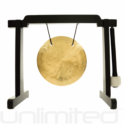 "6"" Wind Gong on the Tiny Atlas Stand - Black - FREE SHIPPING"