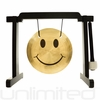 """7"""" Smiley Face Gong on the Tiny Atlas Stand - Black - FREE SHIPPING"""