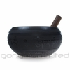 "9"" Black Engraved Singing Bowl with Buddha Relief - FREE SHIPPING"