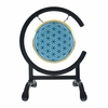 "SOLD OUT 7"" Blue Flower Of Life Gong on High C Gong Stand - FREE SHIPPING"