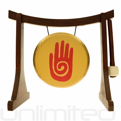 "7"" Reiki Gong on the Lifting Buddha Stand - FREE SHIPPING"